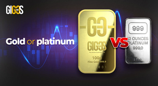 Gold versus platinum. The duel of precious metals