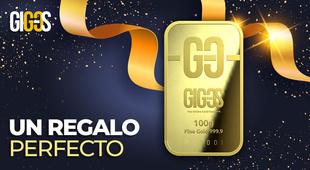¡Un lingote de oro es un regalo perfecto!